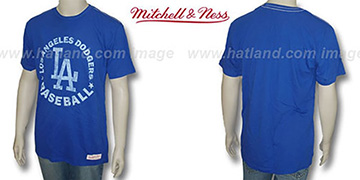 Mitchell & Ness Dodgers Fan Vintage Royal T-Shirt