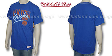 Mitchell & Ness Knicks 'Fan Vintage' Royal T-Shirt