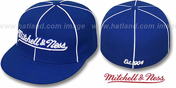 Mitchell & Ness 'PIPING' Royal-White Fitted Hat