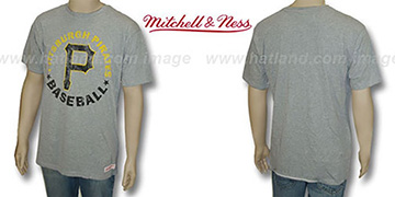 Mitchell & Ness Pirates 'Fan Vintage' Grey T-Shirt