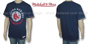 Mitchell & Ness Red Sox 'Fan Vintage' Navy T-Shirt