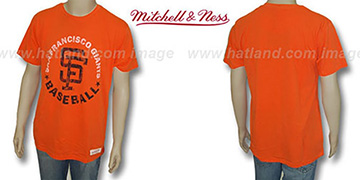 Mitchell & Ness SF Giants 'Fan Vintage' Orange T-Shirt