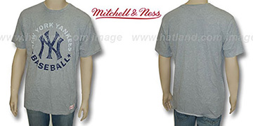 Mitchell and Ness Yankees Fan Vintage Grey T-Shirt