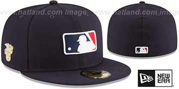 MLB AL Umpire GILDED TURN Navy Fitted Hat by New Era