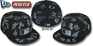 MLB 'ALL-OVER' FADEOUT Black Fitted Hat by New Era