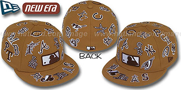 MLB 'ALL-OVER' Wheat-Brown Fitted Hat by New Era