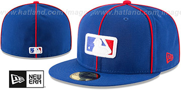 MLB POPPED PIPING UMPIRE Royal Fitted Hat by New Era