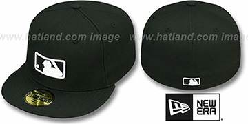 MLB UMPIRE Black Fitted Hat by New Era