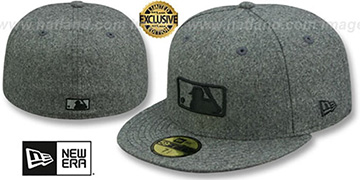 MLB 'UMPIRE FASHION' Melton Grey Hat by New Era