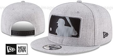 MLB Umpire 'SILKED-XL SNAPBACK' Heather Light Grey Hat by New Era