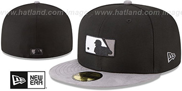 MLB Umpire TONAL-CHOICE Black Fitted Hat by New Era