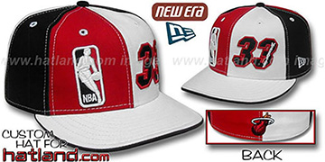 Mourning DOUBLE WHAMMY Red-White-Black Fitted Hat