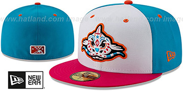 Mudcats COPA White-Blue-Pink Fitted Hat by New Era