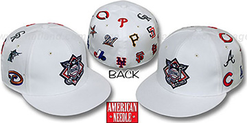 National League 'ALL-OVER' Fitted Hat - White