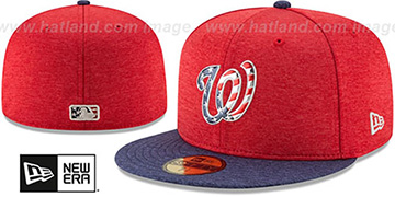 Nationals '2017 JULY 4TH STARS N STRIPES' Fitted Hat by New Era