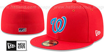 Nationals 2017 MLB LITTLE-LEAGUE Red Fitted Hat by New Era