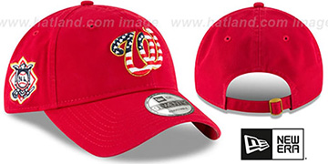 Nationals 2018 JULY 4TH STARS N STRIPES STRAPBACK Red Hat by New Era
