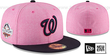 Nationals '2018 MOTHERS DAY' Pink-Navy Fitted Hat by New Era
