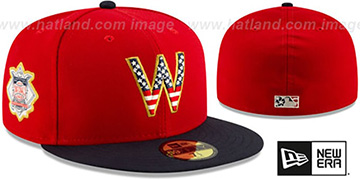 Nationals 2019 JULY 4TH STARS N STRIPES Fitted Hat by New Era