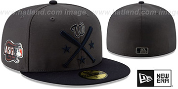 Nationals '2019 MLB ALL-STAR WORKOUT' Grey-Navy Fitted Hat by New Era