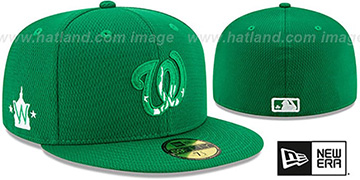 Nationals 2020 ST PATRICKS DAY Fitted Hat by New Era