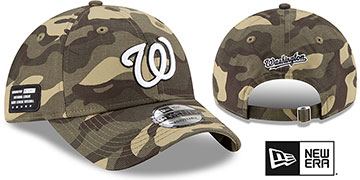 Nationals 2021 ARMED FORCES STARS N STRIPES STRAPBACK Hat by New Era