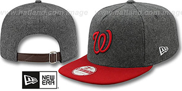 Nationals '2T MELTON A-FRAME STRAPBACK' Hat by New Era