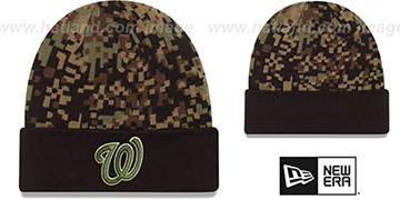 Nationals 'ARMY CAMO PRINT-PLAY' Knit Beanie Hat by New Era