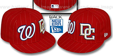 Nationals 'BIG-ONE DOUBLE WHAMMY' Red-White Fitted Hat