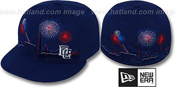 Nationals 'CITY-SKYLINE FIREWORKS' Navy Fitted Hat by New Era