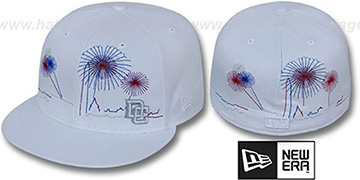 Nationals 'CITY-SKYLINE FIREWORKS' White Fitted Hat by New Era