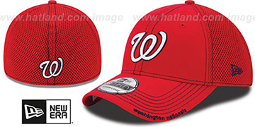 Nationals CONTRAST NEO MESH Red Flex Hat by New Era