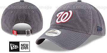 Nationals 'CORE-CLASSIC STRAPBACK' Grey Hat by New Era
