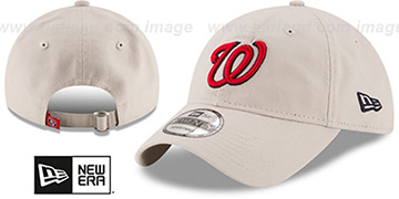 Nationals 'CORE-CLASSIC STRAPBACK' Stone Hat by New Era
