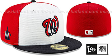 Nationals DASHMARK BP White-Red-Navy Fitted Hat by New Era