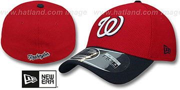 Nationals 'DIAMOND ERA' 39THIRTY Flex Red-Navy Hat by New Era