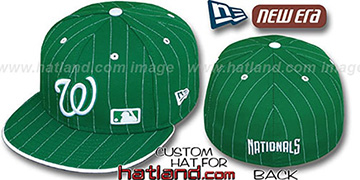 Nationals FABULOUS Kelly-White Fitted Hat by New Era