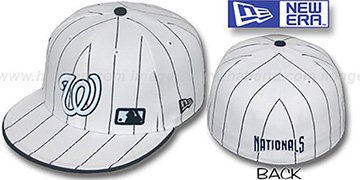 Nationals FABULOUS White-Navy Fitted Hat by New Era