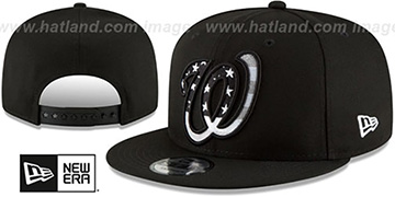 Nationals 'FLAG FILL INSIDER SNAPBACK' Black Hat by New Era