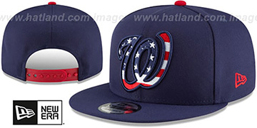 Nationals 'FLAG FILL INSIDER SNAPBACK' Navy Hat by New Era
