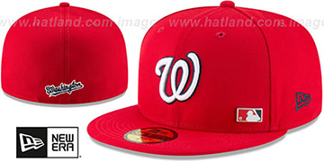 Nationals FLAWLESS PINNED-UP Red Fitted Hat by New Era