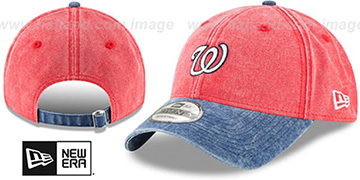 Nationals GW RUGGED CANVAS STRAPBACK Red-Navy Hat by New Era