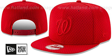 Nationals 'JERSEY MESH TONAL SNAPBACK' Red Hat by New Era