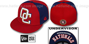 Nationals 'LETTERMAN' Red-Navy Fitted Hat by New Era