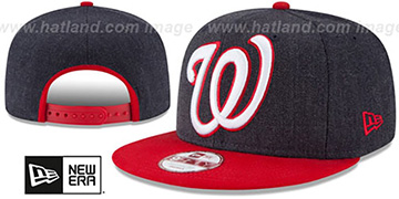 Nationals 'LOGO GRAND SNAPBACK' Navy-Red Hat by New Era