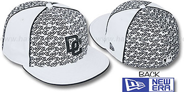 Nationals LOS-LOGOS White-Black Fitted Hat by New Era