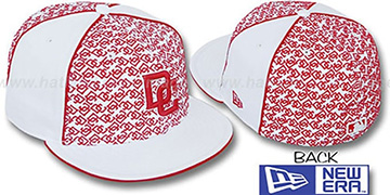 Nationals LOS-LOGOS White-Red Fitted Hat by New Era