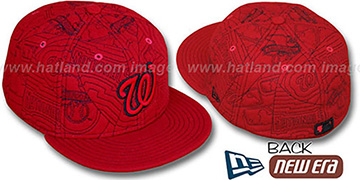 Nationals 'MELTON PUFFY' Red Fitted Hat by New Era