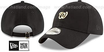 Nationals MINI GOLD METAL-BADGE STRAPBACK Black Hat by New Era