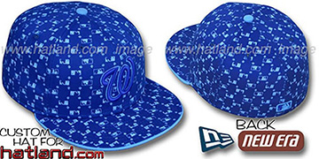 Nationals 'MLB FLOCKING' Royal Fitted Hat by New Era